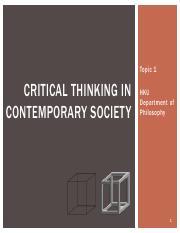 cchu critical thinking