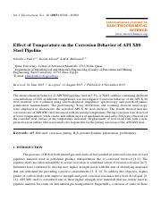 Effect of Temperature on the Corrosion Behavior of API X80 Steel Pipeline.pdf