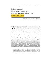 Inflation and Unemployment- A Layperson's Guide to the Phillips Curve (R4)