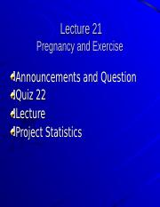 Student Lecture 21 - (Pregnancy and Exercise).ppt