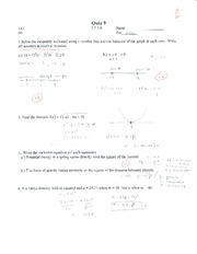 College Algebra Quiz 9
