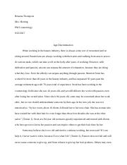 Age Discrimination Essay- Cosmetology .docx