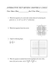 test review for conics