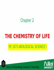 2 The Chemistry of Life