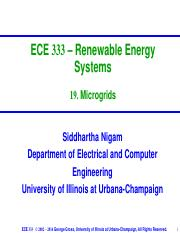 Lecture 19 - Microgrids