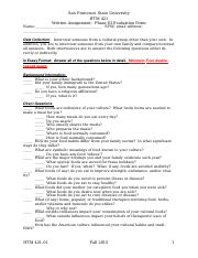 F15 HM421 01_Phase_III_Interview Project Evaluation Form