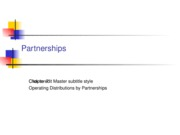 Partnerships Chapter 7
