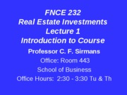 Lecture+1+FNCE+232+Introduction