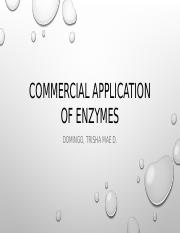 Commercial Application of Enzymes.pptx