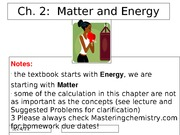 Chapter 2Energy and Matter