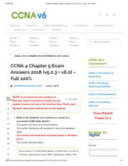 Chapter 5 Exam_ 18_CCNP_TSHOOT pdf - 2018 10 18 Chapter 5 Exam