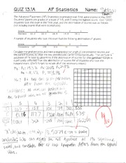 Quiz on Chi Squares Tests
