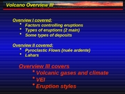 Slideshow 101.20 Volcano Overview III