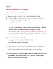 2043 Topic 1 Overview of  Financial Market.DOC