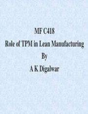 Lecture on Role of TPM in Lean Production.pdf