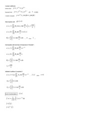 MATH 6265 4th and Last Cheat Sheet