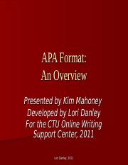 APA Format Overview.ppt