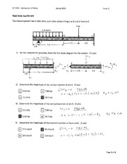 Solutions Exams 3