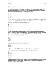 Clicker Questions 2010 revised
