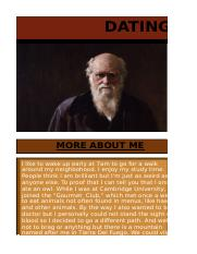 DATING PROFILE FOR CHARLES DARWIN