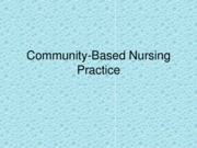 Community-Based Nursing Practice