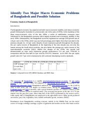Two Major Macro Economic Problems of Bangladesh and Possible Solution.docx