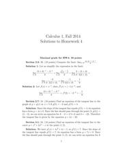 MATH 1101 Fall 2014 Homework 4 Solutions