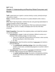 Mkt 2110 Chapter 7 notes