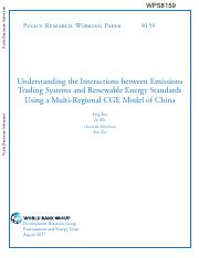 Understanding the Interactions between Emissions Trading Systems and Renewable Energy Standards Usin