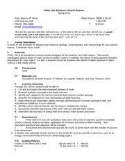 1 phsc 121 syllabus spring 2014 Phsc 121 course syllabus page 3 of 6 d identify how a basic understanding of astronomy relates to everyday life e identify the relationship between general and special revelati on as it relates to.