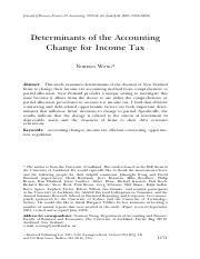 Week 3 Reading 2 Determinants of the Accounting Change for Income Tax.pdf