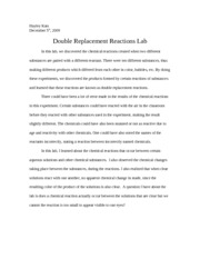 lab double replacement