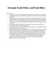 Strategic Trade Policy and Trade Blocs