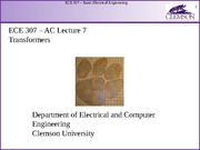 ECE 307 AC Lecture 7 - Transformers