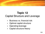 Topic 12 _Capital Structure_2008-3
