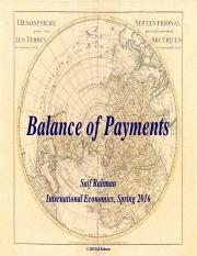 PP-7 Balance of Payments