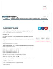 Expectation and Variance | advanced-level-maths-revision, statistics, expectation-and-variance | Mat