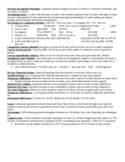 ACC Final review sheet