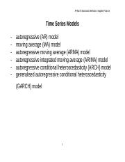 Lecture 10 - Time Series Models.doc