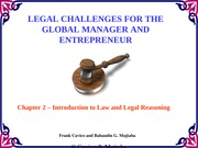 Chapter2 Legal Challenges