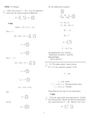 Homework 18 Solution Winter 2008 on Ordinary Differential Equations