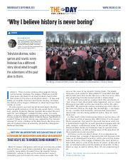 1884 'Why I believe history is never boring'