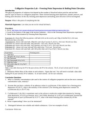 coligws5 chemistry colligative properties worksheet colligative properties are properties that. Black Bedroom Furniture Sets. Home Design Ideas