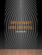 Campus sustainability month- event proposal