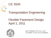 Flexible pavement design