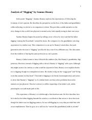 Essay Writing Topics For High School Students Digging   Analysis Of Digging By Seamus Heaney In His Poem Digging Seamus  Heaney Explores The Expectations Of Following The Footsteps Of Ones Parents High School Application Essay Samples also English Essay Introduction Example Digging   Analysis Of Digging By Seamus Heaney In His Poem Digging  Reflective Essay On English Class