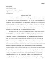 Final Research Paper, Women in Combat Arms.docx