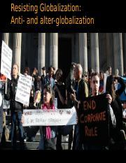Anti Globalization