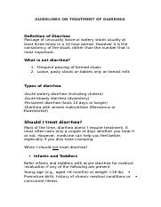GUIDELINES ON TREATMENT OF DIARRHEA.doc