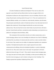 adolescent development essay